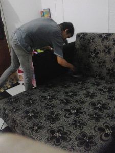 cuci sofa bed murah profesional
